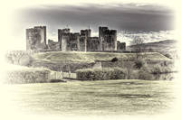 Caerphilly Castle toned