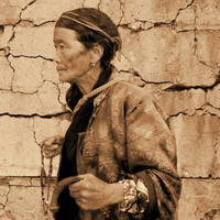 Old Woman with Beads by I.M. Spadecaller