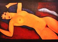 Reclining nude, After Modigliani