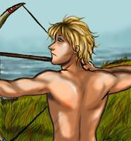 The Archer in the fields