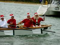 Santa! Rowing into Beaufort