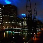 """Canary Wharf at Night"" by D77TheDigArtisT"