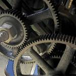 """Industrial Cogs and Gears 01"" by WallArtDeco"