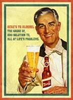 Here's to Alcohol Vintage Poster