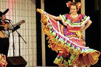 Mexican Lady Performing Traditional Dance