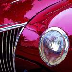 """A Collectible Red Vintage Car"" by WallArtDeco"