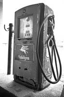 Old Gas Pump 2: Black and White