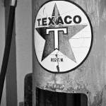 """Old Gas Pump 3: Black & White"" by PaulHuchton"