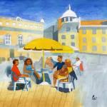 """""""Sunlit Café Scene"""" by Bavvy"""