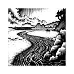 """Running River"" by beardart"