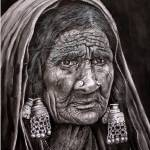 """lambadi old woman"" by johnsonmoya"