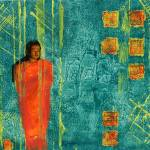 """Kathryn Casper: Buddhist Monk"" by KathrynCasper"