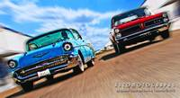 Drag Race - 57 Chevy and 65 GTO