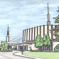 Ogden Utah Temple Art Prints & Posters by Dan Anderton