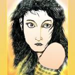 """Kate Bush: A Sea of Honey Pen Drawing"" by headcharge"