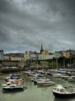 Tenby Town Across The Harbour