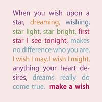 Make a Wish (Rainbow Colors on Pink)