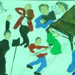 """BIG BAND MUSIC"" by ARTCREATIONSBYOLGA"