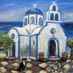 """Greek Island Serenity"" by artbyangie"