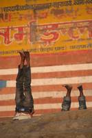 Doing Yoga on the Ghats