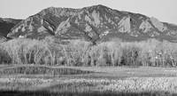 NCAR and Flatiron View Boulder CO BW