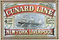 Cunard Line - New York to Liverpool