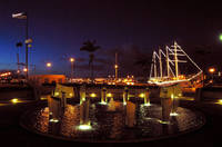 Marina Docks at Night