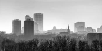 Hazy Shades of Winter Milwaukee Skyline