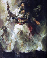 Blackbeard with Smoke
