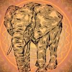 """""Elephant Spirit"" version2 - surreal totem animal"" by LeahMcNeir"