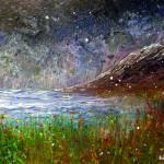 """Snow over Antrim coast"" by artnotnames"