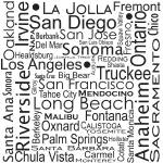 """California Cities"" by TuesdayMoon"