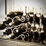 """Wine Bottles on a Wine Rack"" by Amberwatsonwilliams"