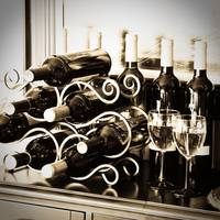 Wine Bottles on a Wine Rack