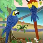"""Red & Blue Macaws"" by delRio"