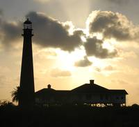 Bolivar Lighthouse at Sunset