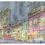 """Sixth St. looking West, Austin, Texas"" by ysapy"