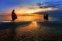 The monk Huahin Thailand