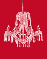 Chandelier Red 1