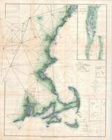 Coastal Massachusetts Map (1873)
