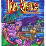 """Palm Springs Flamingo"" by FatFreeComics"