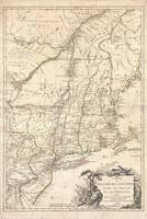 Vintage Map of New England (1777)