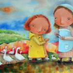 """Goose Girls"" by Monica-Blatton"