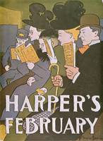 Harper's February by Edward Penfield