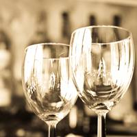 Wine Glasses in Soft Antique Light
