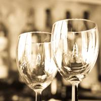 Wine Glasses in Soft Antique Light Art Prints & Posters by Amber Watson-Williams