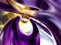 Passionate Orchid Abstract