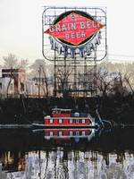 Grain Belt Bear & River Boat in Minneapolis