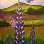 """Butterflies on Flowers"" by ShackPaintings"