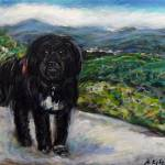 """Black dog Roscoe"" by artbyangie"